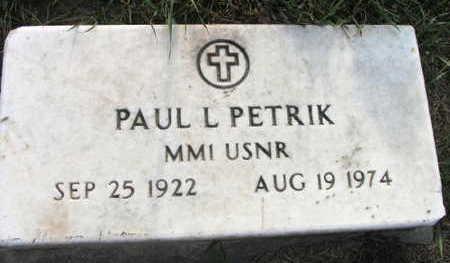PETRIK, PAUL L. - Linn County, Iowa | PAUL L. PETRIK