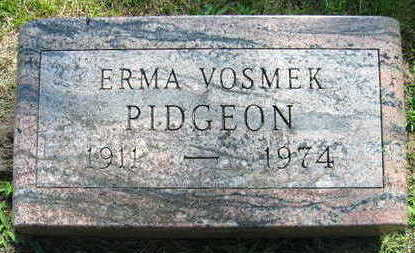 VOSMEK PIDGEON, ERMA - Linn County, Iowa | ERMA VOSMEK PIDGEON