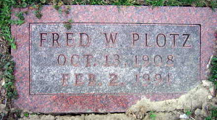 PLOTZ, FRED W. - Linn County, Iowa   FRED W. PLOTZ