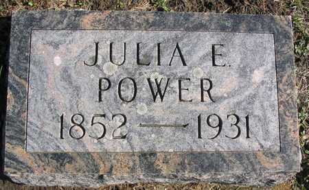 POWER, JULIA E. - Linn County, Iowa | JULIA E. POWER