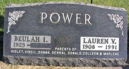 POWER, LAUREN V. - Linn County, Iowa   LAUREN V. POWER