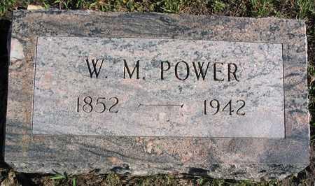 POWER, W. M. - Linn County, Iowa | W. M. POWER