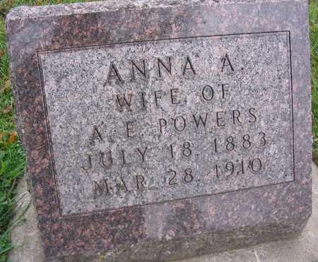 POWERS, ANNA A. - Linn County, Iowa | ANNA A. POWERS