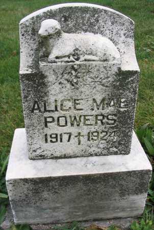 POWERS, ALICE MAE - Linn County, Iowa   ALICE MAE POWERS