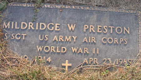 PRESTON, MILDRIDGE W. - Linn County, Iowa | MILDRIDGE W. PRESTON