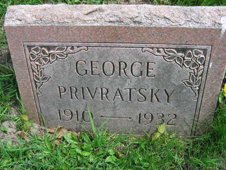 PRIVRATSKY, GEORGE - Linn County, Iowa | GEORGE PRIVRATSKY