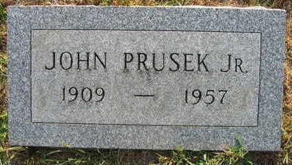PRUSEK, JOHN JR. - Linn County, Iowa   JOHN JR. PRUSEK