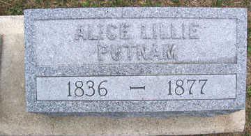 LILLIE PUTNAM, ALICE - Linn County, Iowa | ALICE LILLIE PUTNAM