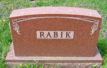 RABIK, FAMILY STONE - Linn County, Iowa | FAMILY STONE RABIK