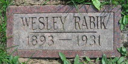 RABIK, WESLEY - Linn County, Iowa   WESLEY RABIK
