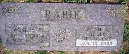 RABIK, WESLEY F. - Linn County, Iowa | WESLEY F. RABIK