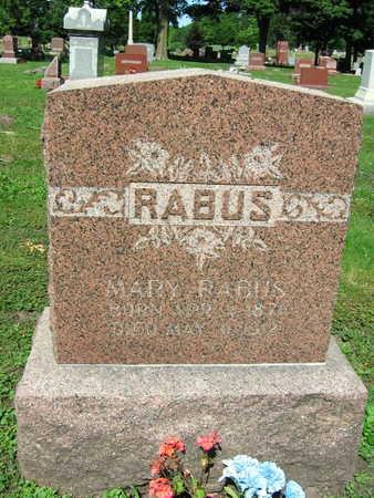 RABUS, MARY - Linn County, Iowa   MARY RABUS