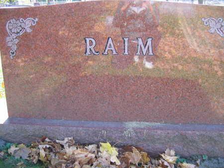 RAIM, FAMILY STONE - Linn County, Iowa | FAMILY STONE RAIM