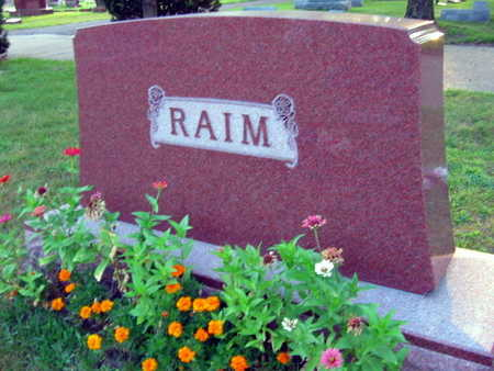 RAIM, FAMILY STONE - Linn County, Iowa   FAMILY STONE RAIM