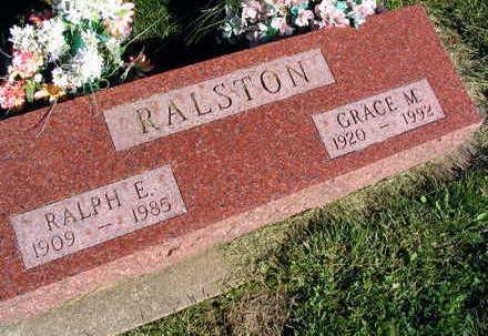RALSTON, RALPH E. - Linn County, Iowa   RALPH E. RALSTON