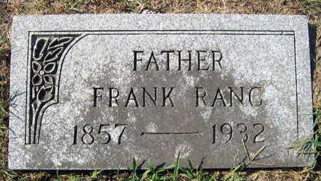 RANC, FRANK - Linn County, Iowa   FRANK RANC