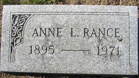 RANCE, ANNA L. - Linn County, Iowa | ANNA L. RANCE