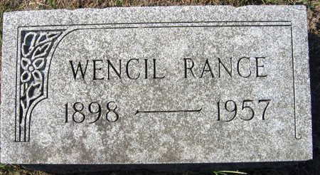RANCE, WENCIL - Linn County, Iowa | WENCIL RANCE