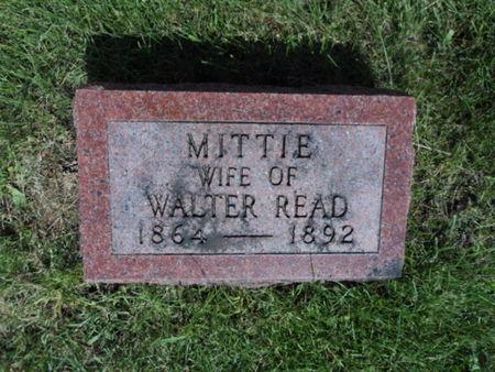 READ, MITTIE - Linn County, Iowa   MITTIE READ