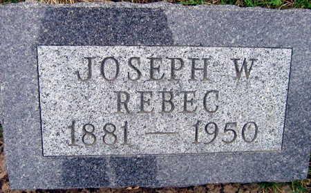 REBEC, JOSEPH W. - Linn County, Iowa   JOSEPH W. REBEC