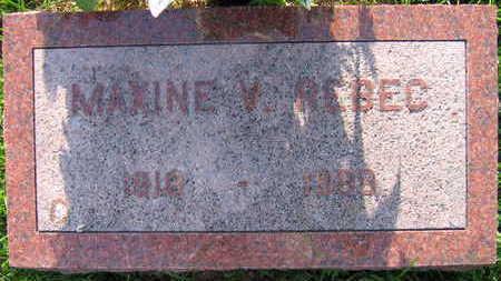 REBEC, MAXINE V. - Linn County, Iowa | MAXINE V. REBEC