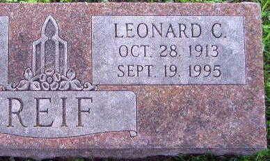 REIF, LEONARD C. - Linn County, Iowa | LEONARD C. REIF