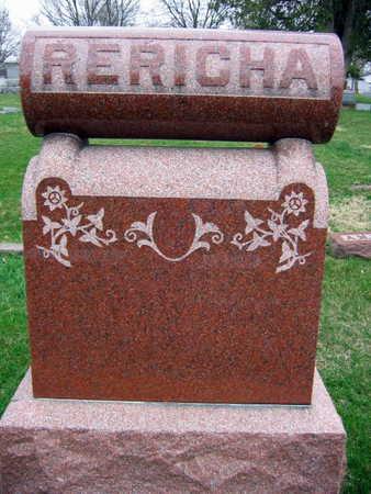 RERICHA, FAMILY STONE  (RERICHA BLAHNIK) - Linn County, Iowa | FAMILY STONE  (RERICHA BLAHNIK) RERICHA