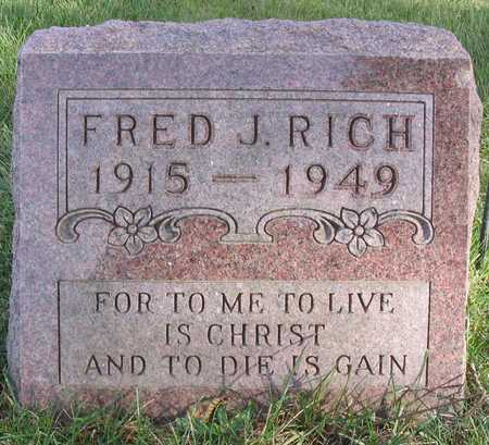 RICH, FRED J. - Linn County, Iowa | FRED J. RICH
