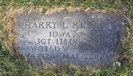 RICH, HARRY L. - Linn County, Iowa | HARRY L. RICH