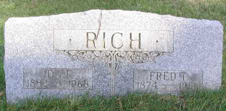 RICH, FRED T. - Linn County, Iowa | FRED T. RICH