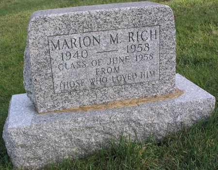 RICH, MARION M. - Linn County, Iowa | MARION M. RICH