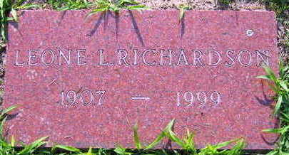 RICHARDSON, LEONE L. - Linn County, Iowa | LEONE L. RICHARDSON