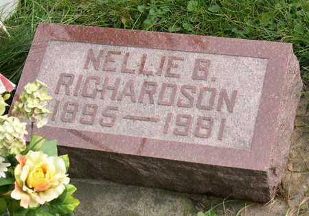 RICHARDSON, NELLIE B. - Linn County, Iowa   NELLIE B. RICHARDSON