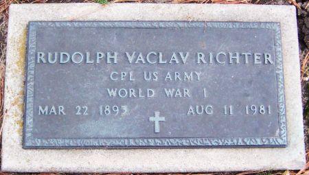 RICHTER, RUDOLPH VACLAV - Linn County, Iowa | RUDOLPH VACLAV RICHTER