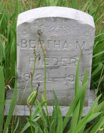 RIEDER, BERTHA M. - Linn County, Iowa | BERTHA M. RIEDER
