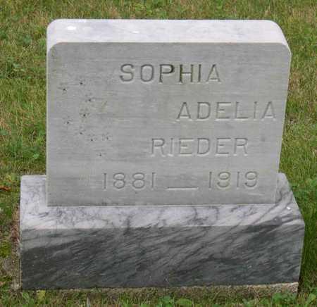 RIEDER, SOPHIA ADELIA - Linn County, Iowa | SOPHIA ADELIA RIEDER