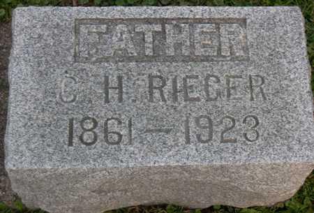 RIEGER, C. H. - Linn County, Iowa | C. H. RIEGER