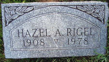 RIGEL, HAZEL A. - Linn County, Iowa   HAZEL A. RIGEL