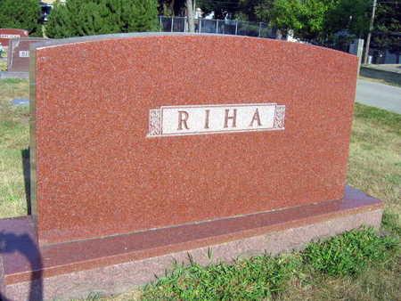 RIHA, FAMILY STONE - Linn County, Iowa | FAMILY STONE RIHA
