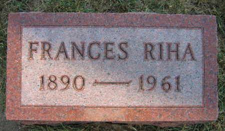 RIHA, FRANCES - Linn County, Iowa | FRANCES RIHA