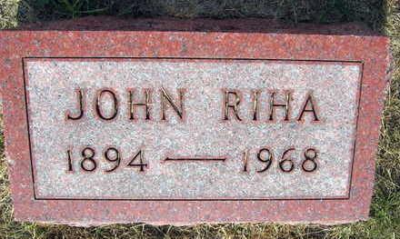 RIHA, JOHN - Linn County, Iowa | JOHN RIHA
