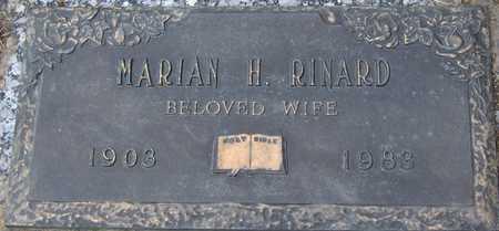 RINARD, MARIAN H - Linn County, Iowa   MARIAN H RINARD
