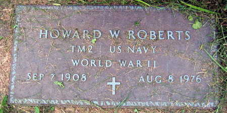 ROBERTS, HOWARD W. - Linn County, Iowa | HOWARD W. ROBERTS
