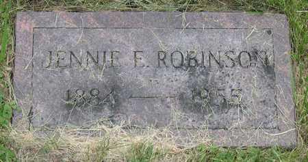 ROBINSON, JENNIE E. - Linn County, Iowa | JENNIE E. ROBINSON