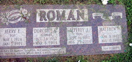 ROMAN, JERRY E. - Linn County, Iowa | JERRY E. ROMAN