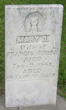 ROOSA, MARY D. - Linn County, Iowa   MARY D. ROOSA