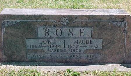 ROSE, MAUDE - Linn County, Iowa | MAUDE ROSE