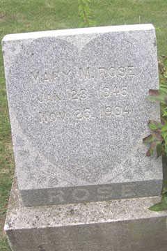 ROSE, MARY M. - Linn County, Iowa | MARY M. ROSE