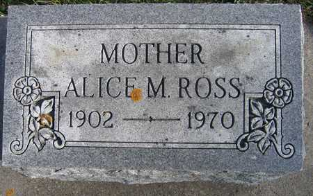 ROSS, ALICE M. - Linn County, Iowa | ALICE M. ROSS