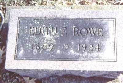 ROWE, EDITH E. - Linn County, Iowa   EDITH E. ROWE